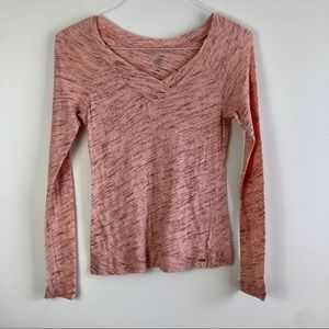Alo Pink Long Sleeve Shirt